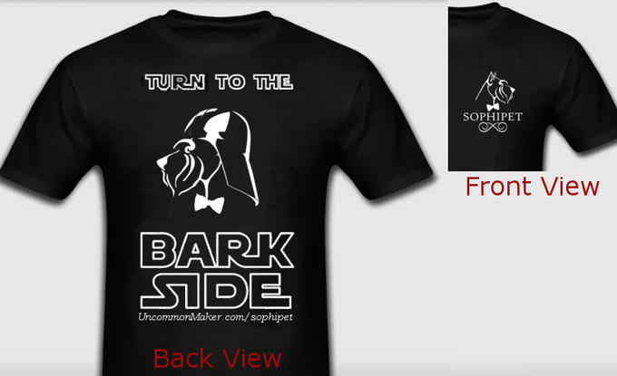 Bark Vader Human T-Shirt | *Design is subject to change