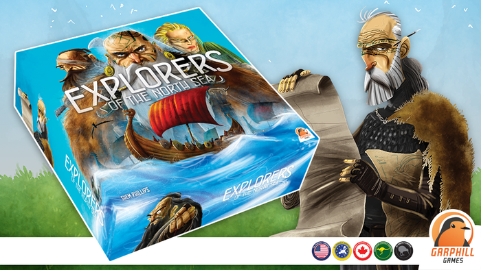 Sail, raid and conquer! Complete the epic Viking trilogy with Explorers of the North Sea + The North Sea Runesaga (Trilogy Expansion).