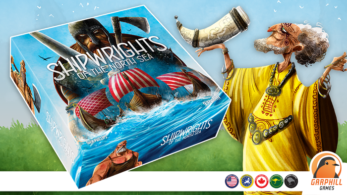 Shipwrights is a Viking themed game for 2-5 players, competing to build the greatest fleet on the North Sea!
