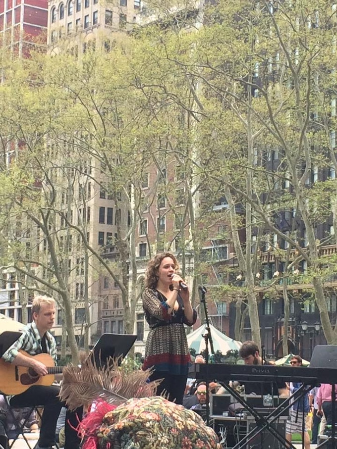 Performing Shakespeare songs on Bryant Park's summer stage