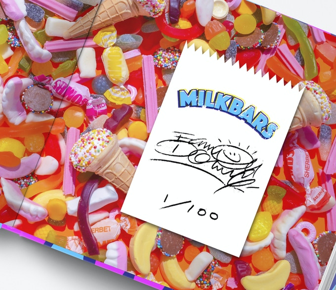 Limited Edition Card on the mixed lollies end papers. In scented 'Vanilla' ink! Numbered 1-100.