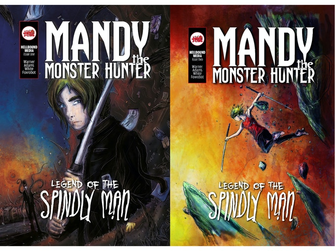 """The Legend of the Spindly Man"" #1 & #2 Covers"