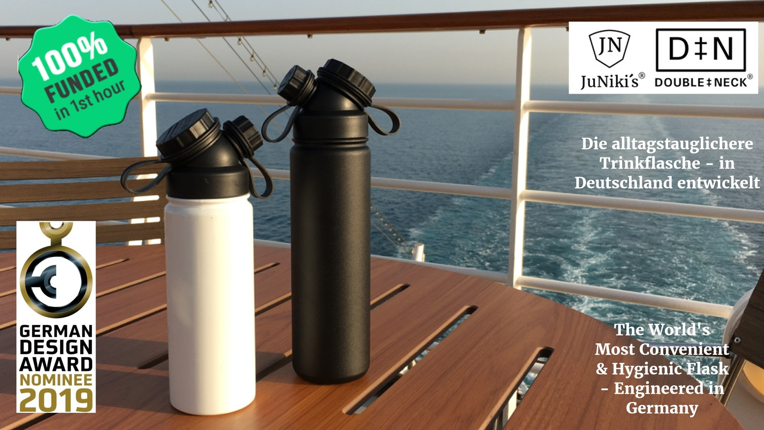 Die durchdachte, isolierte Trinkflasche für den täglichen Einsatz - The well thought through insulated drinking bottle for daily use