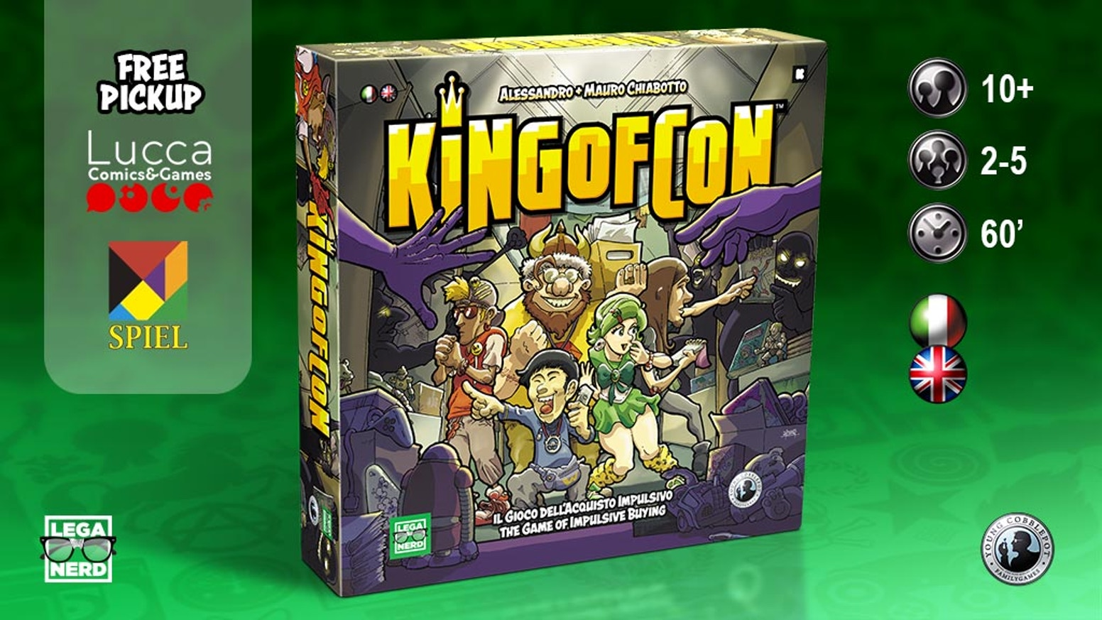 A board game for 2/5 geeky nerds feeding the monkey of impulsive buying!