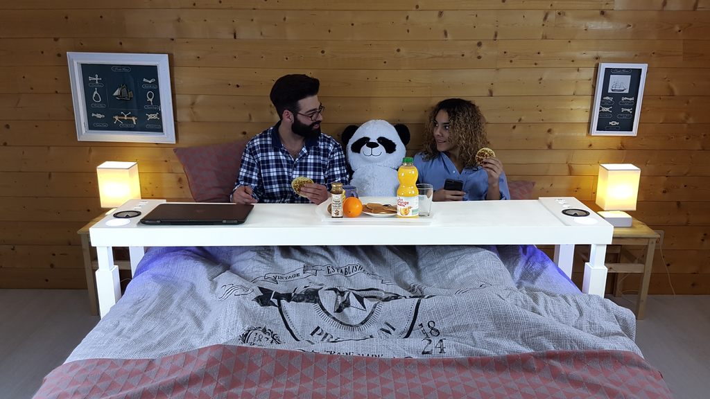 BEDCHILL: Connected overbed table➡Revolutionize your bedroom