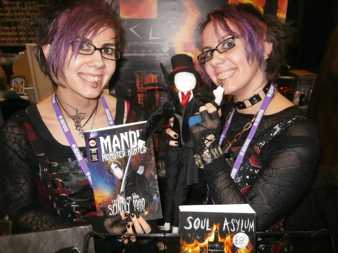 Plushie Spindly Man with C L Raven