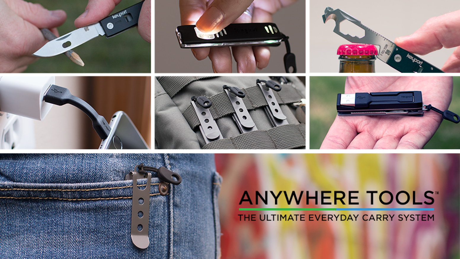 Modular tech & tools combine utility, convenience & style in a fully customizable, wearable system for all your everyday carry needs