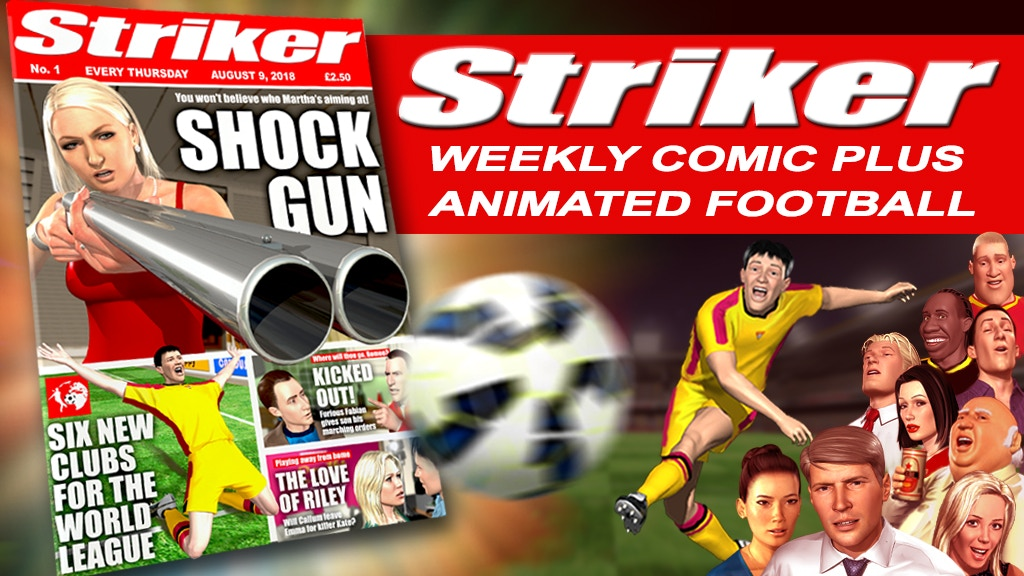 Striker: First 12 weekly comics and animated football project video thumbnail