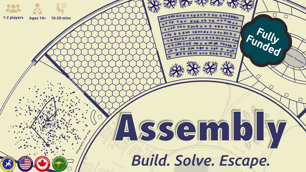 Assembly: A compact solo or cooperative puzzle game miniatura de video del proyecto