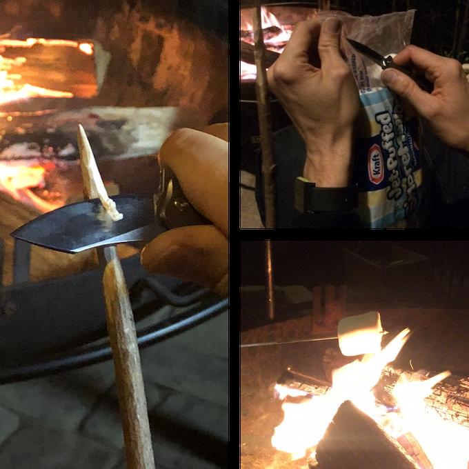 Make a marshmallow roasting stick with Braza Bro EDC.