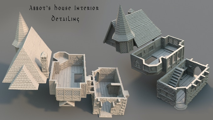 Abbot's House parts and Interior detailing (Work in Progress).