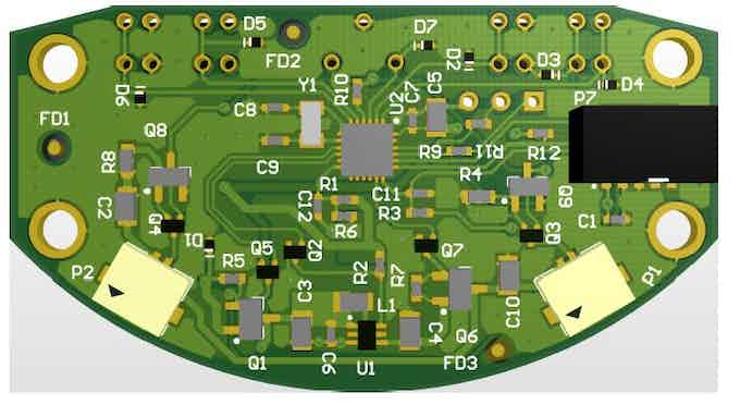 Front of the PCB, which fits inside the housing.