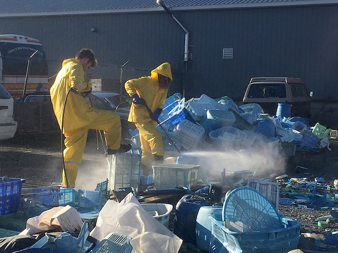 Washing 5 tons of plastic