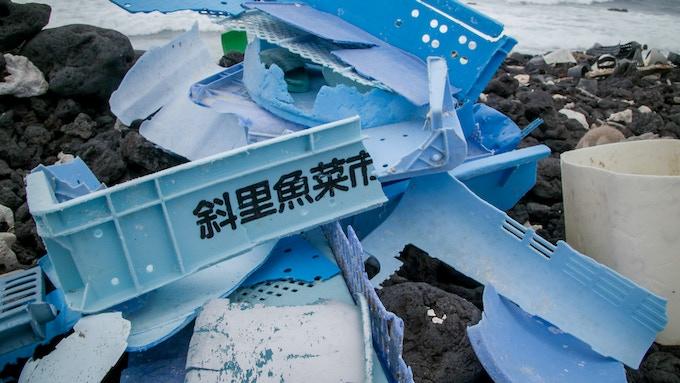 Sample of Blue Plastic