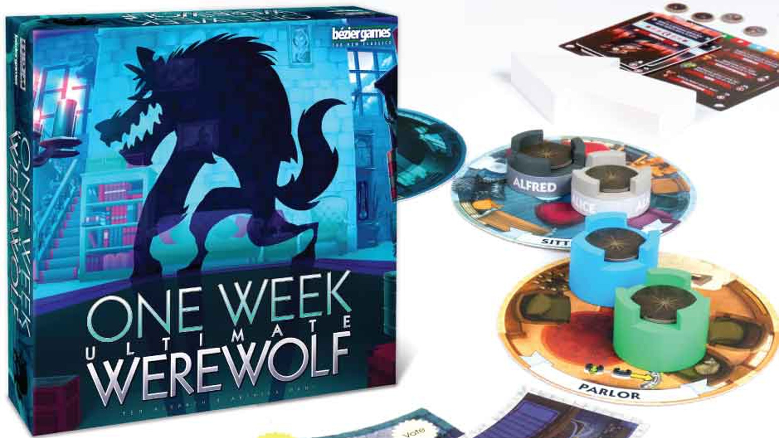 One Week Ultimate Werewolf takes the exciting gameplay of One Night Ultimate Werewolf and twists it around to create a whole new game!