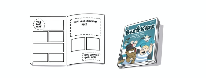 YOUR STORY CHF 2.000.-    This is it. Get your own, customized comic story. It'll contain a spread with title, double page content and back page. + Get the Comic Book