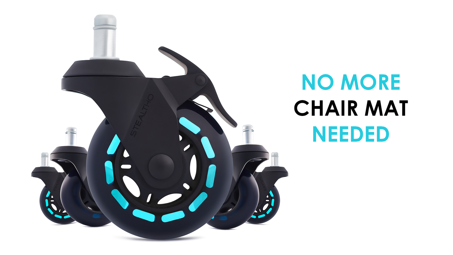 magic office chair caster wheels protect your floor by stealtho