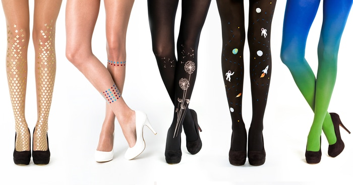 EUROPE'S COOLEST TIGHTS. Mermaid tights, printed tights, ombre tights, goth tights, reflective tights and more...