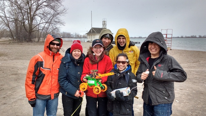 Robot Missions 1st Field Test at Cherry Beach, Toronto, Ontario (April 2016)