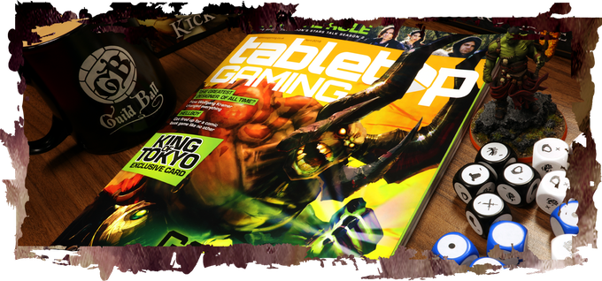 Front Cover Feature Article in Tabletop Gaming this Month!