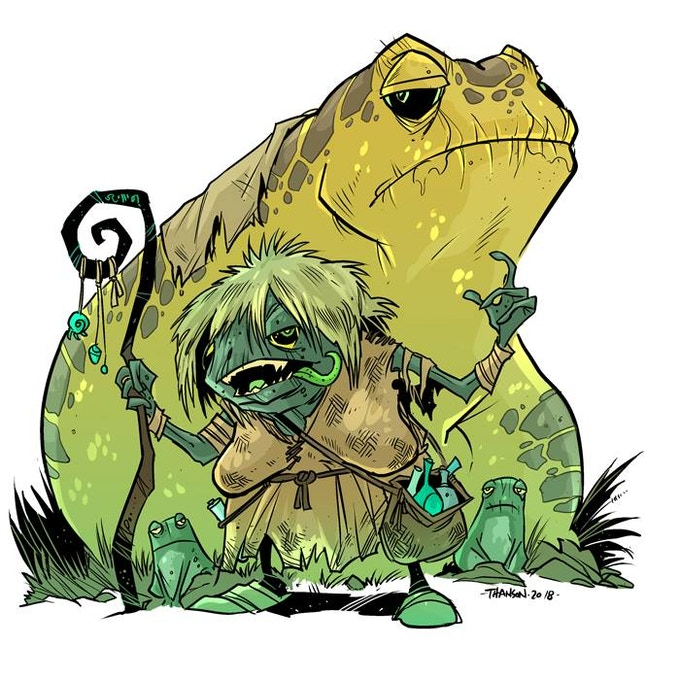 Color version of the Frog Witch