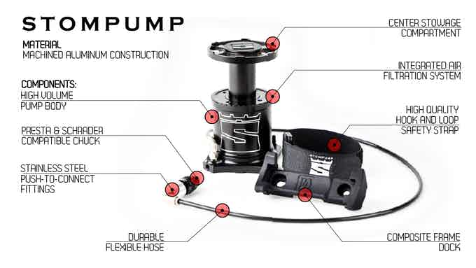 Stompump has a maximum pressure of 90 PSI
