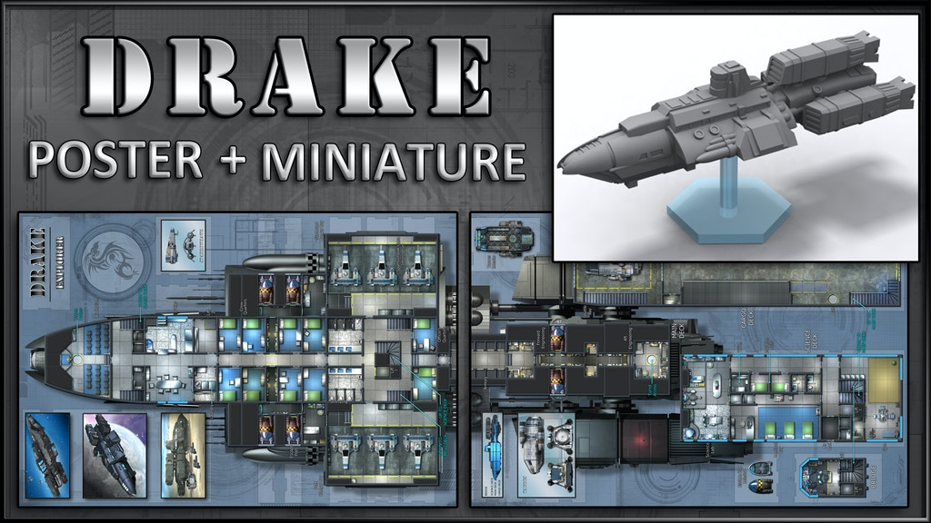 Drake: Starship Map & Miniature project video thumbnail