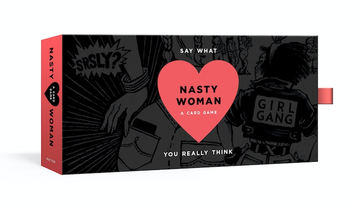 Assemble your girl gang by collecting the most Nasty Woman Cards to take down the patriarchy and win the game. Whatever you do, don't get trumped!