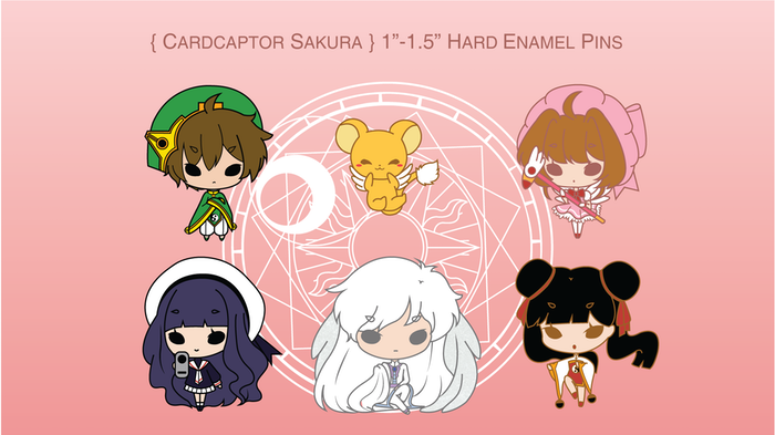 Cardcaptor Sakura Chibi Hard Enamel Lapel Pins Accessories by
