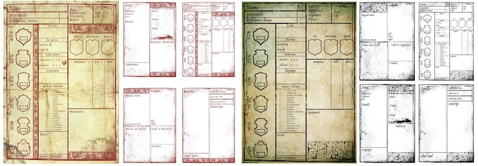 Includes Eight Unique Character Sheets