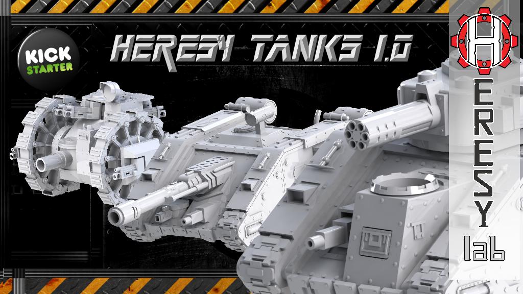 Heresylab - Sci-Fi 3D printable Heresy Tanks project video thumbnail