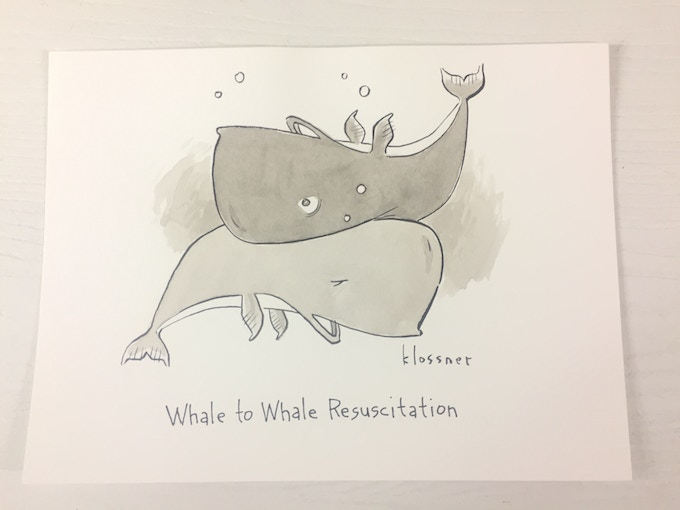 Whale New Yorker Cartoon by John Klossner