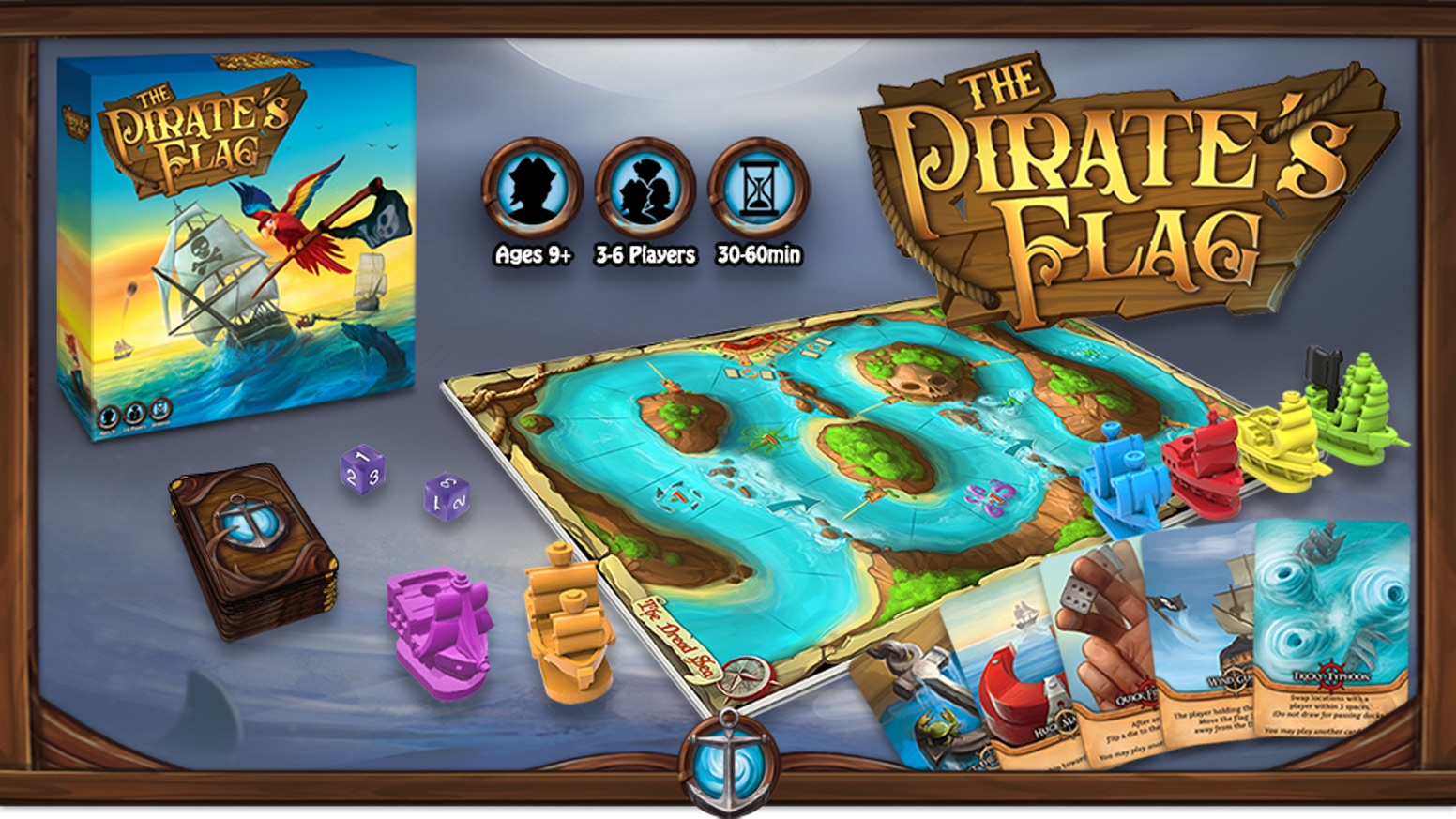 The Pirate's Flag is a dice-rolling, card-playing, capture the flag adventure!