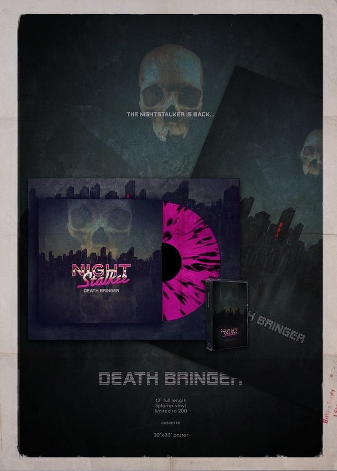 NightStalker 'Death Bringer' debut album  by Bram Van Cauter