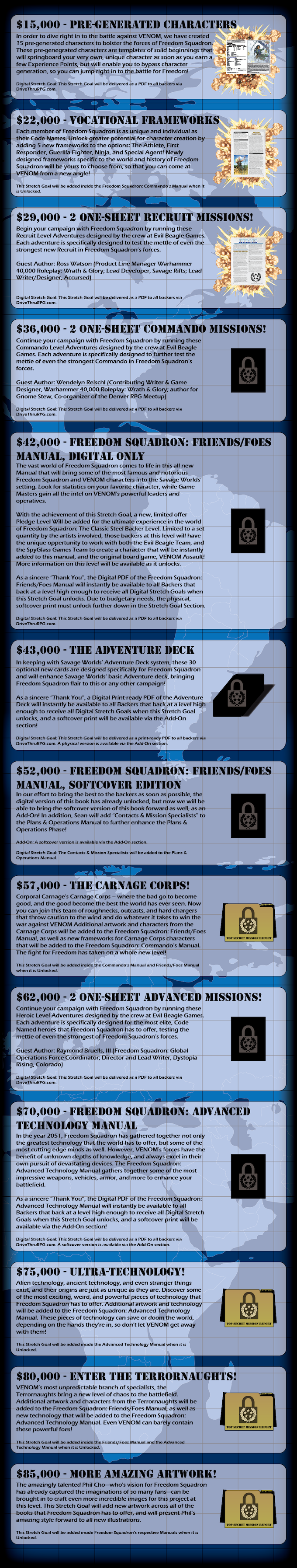 Freedom Squadron - A Savage Worlds Setting by SpyGlass Games