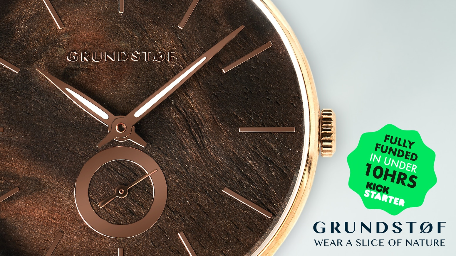 GRUNDSTOF Watch - Crafted From Stainless Steel & Exotic Wood by