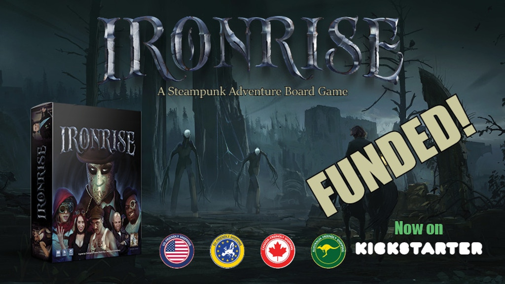 Ironrise - A Steampunk Adventure Board Game project video thumbnail