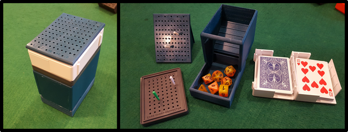 Keep your cards and dice together with our compatible systems!