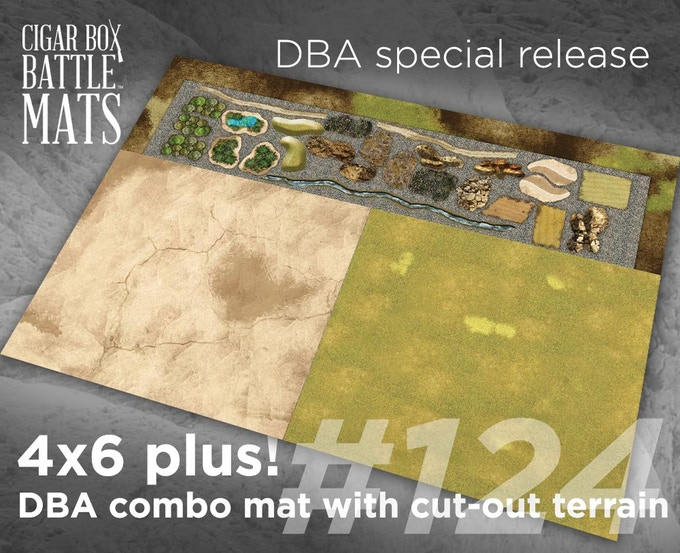 124 DBA combo mat with cut-out terrain