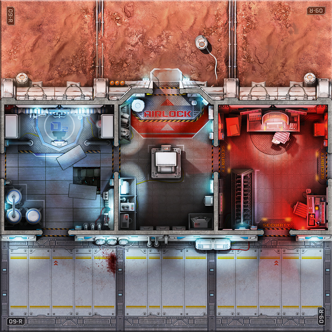 The tiles feature several different Zone types, like Exterior, Oxygen Supply Room, Airlock, Security, and Corridor.