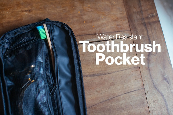 e25e0d5612 Pro Tip! We ve also found this pocket is VERY useful as a very convenient  toothbrush holder while traveling. While hanging your open toiletry bag