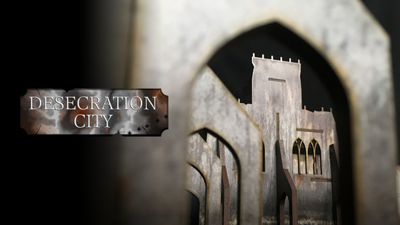 Desecration City Industrial Gothic 28mm Pre-Printed Terrain