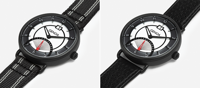 All our watches are equipped with an additional interchangeable strap