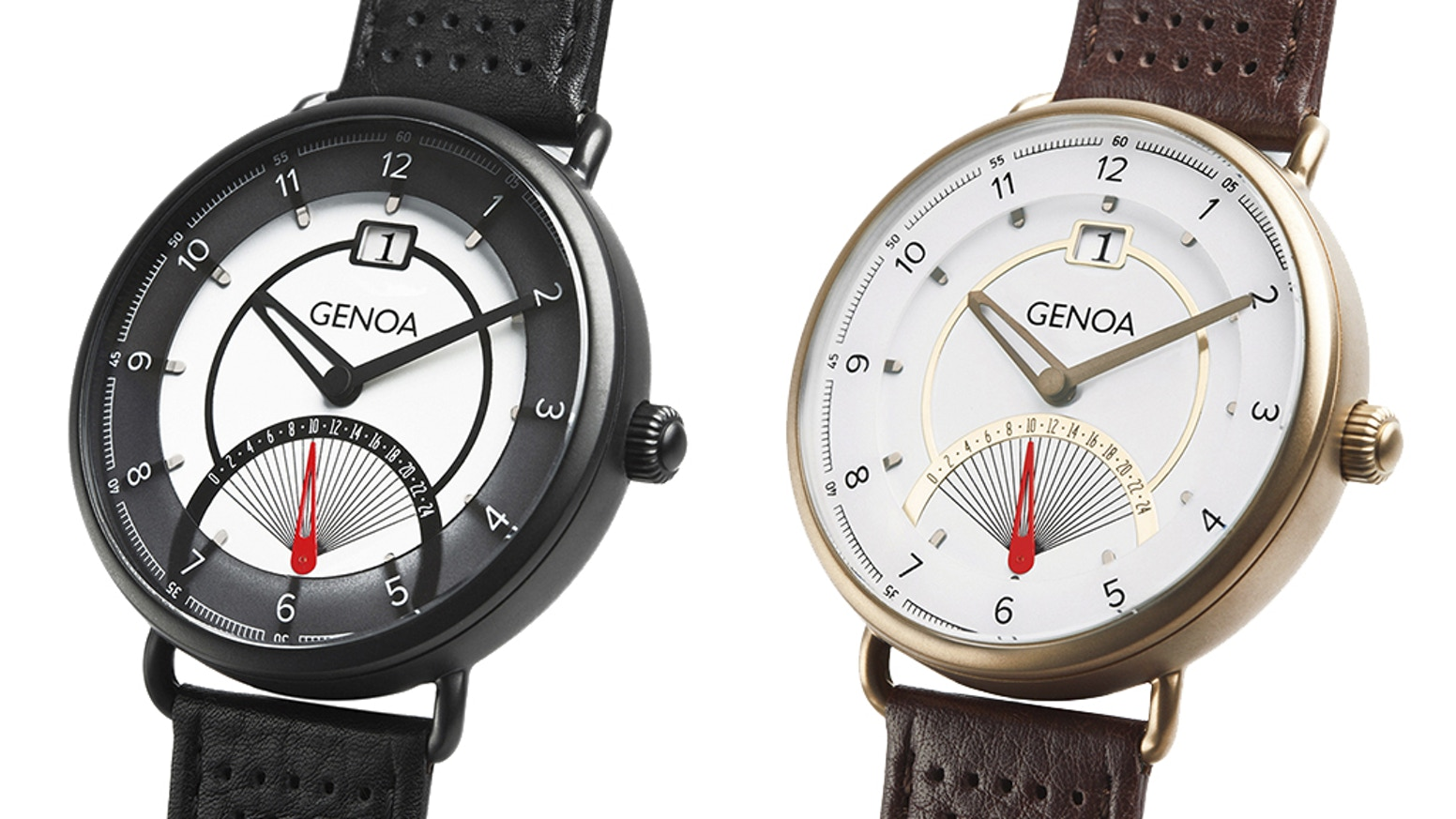 The Genoa is our second collection inspired by retro design, 50s stylistics, and vintage scooter dashboards. Additional strap included!