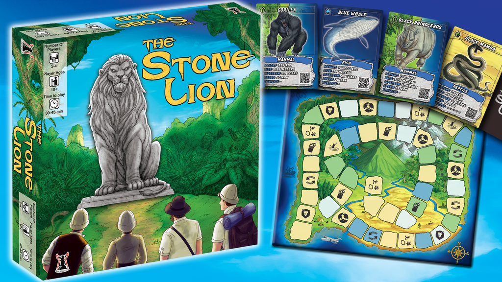 The Stone Lion - Adventure Board Game
