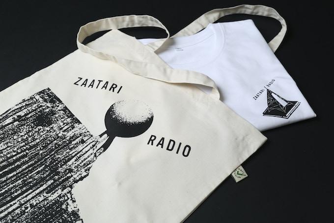 A Zaatari Radio Tshirt and Tote Bag