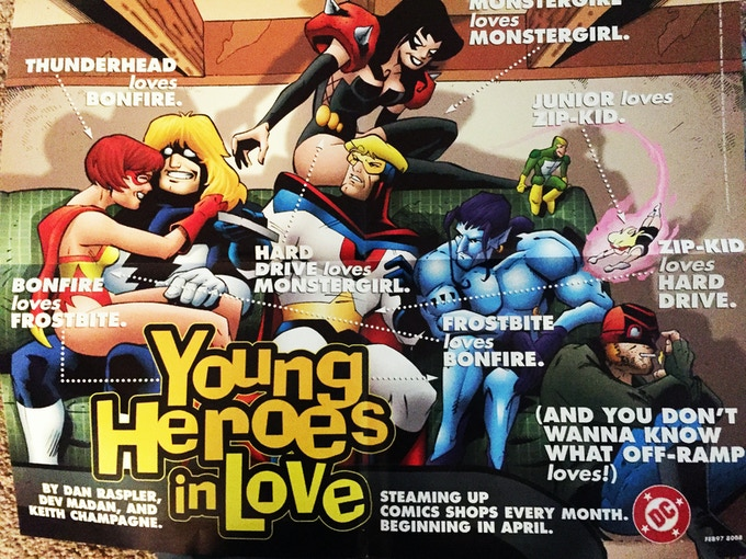The rare Young Heroes reward poster! (don't worry, it's not cropped on top in real life!)