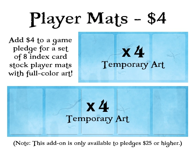 We will work closely with backers on the artwork for the player mats!