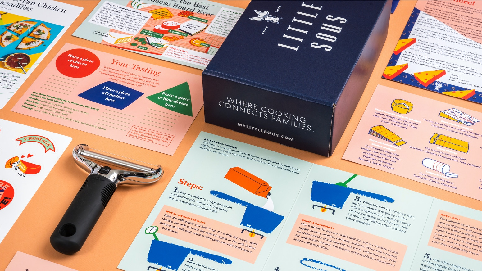 A monthly box that teaches and empowers the next generation of cooks—and connects families in the kitchen.