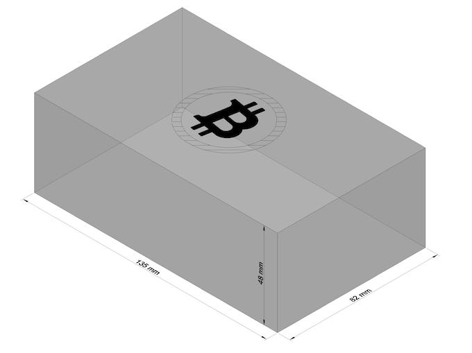 Dimensions: 135mm (L) x 82mm (W) x 48mm (H)